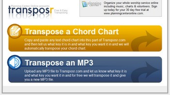 transposr small Transposr   online service lets you convert your music into a new key for free