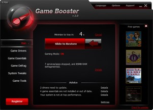 gamebooster2 small Game Booster 2   ace freeware utility instantly optimizes your PC for games and video play