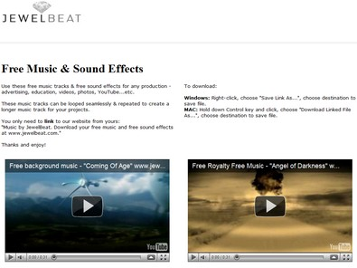 jewelbeat small JewelBeat   free music and sound effects for your projects