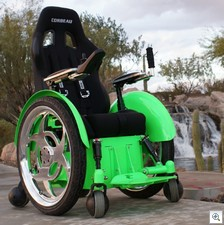 speedsterwheelchair2 thumb Speedster Wheelchair   fast, chrome and not to be messed with...