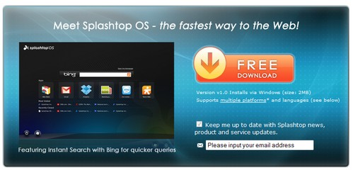splashtop small Splashtop OS   freeware gives your laptop instant start magic