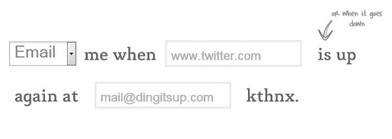 DingItsUp Ding Its Up automatically notifies you when a site comes back online