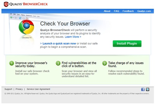 browsercheck small Qualys Browsercheck   cool freeware checks your web browser for insecurities and fixes them