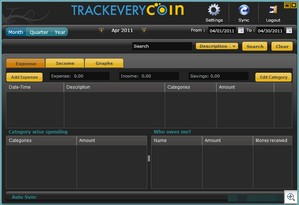 trackeverycoin4 thumb Trackeverycoin   free hybrid mobile and web expense monitor
