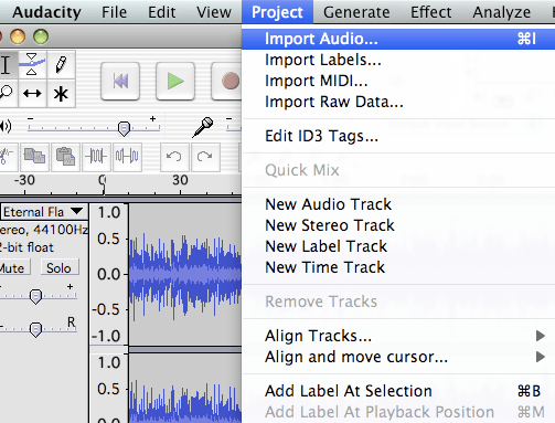 Import audio Use freeware to remove background noise from your audio tracks