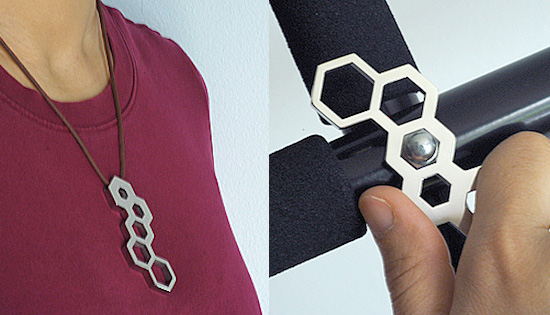 Hex Wrench Necklace is both stylish and functional