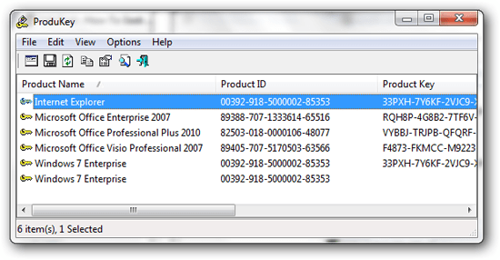 produkey recover 00 Use ProduKey to recover lost product keys