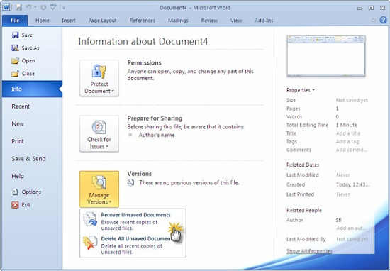 Learn how to recover seemingly lost Microsoft Word documents