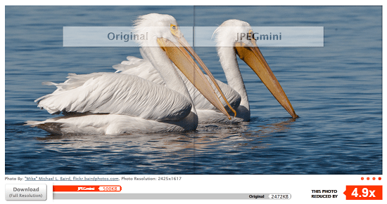 jpegmini JPEGmini shrinks your images without losing quality