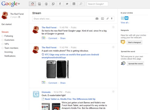 googleplus small1 Announcing The Red Ferret Google+ Page