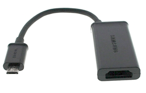 samsunghdmioutadapter Turn Your Samsung Galaxy  Phone Into An HD Media Center For Less Than $70