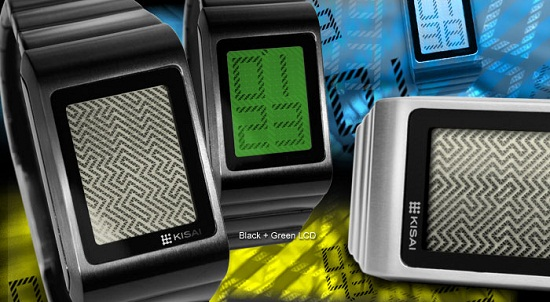 optical illusion lcd watch Optical Illusion Watch makes your brain work to see the time