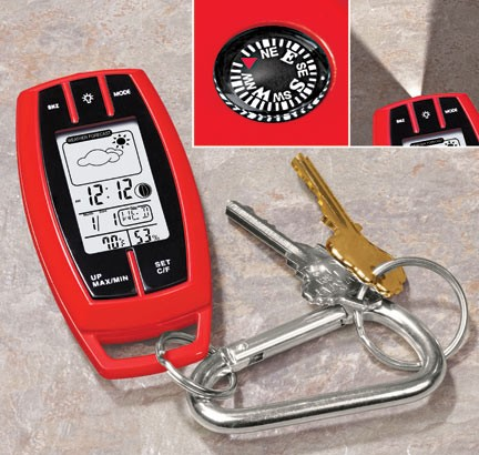 Weather Station Keychain1 Weather Station Keychain makes sure youre always prepared