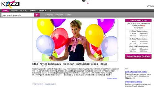 kozzi small Kozzi lets you download up to 30 stock photos a month for free