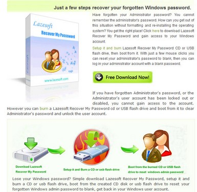lazesoftrecovermypassword small3 Lazesoft Recover My Password gets you out of trouble if you forget your Windows password [Daily Freeware]