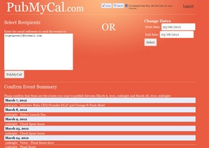 pubmycal2 small PubMyCal lets you email your Google Calendar events with one click