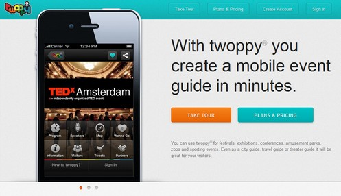 twoppy2 small Twoppy lets you create your own mobile phone tour guide in a flash