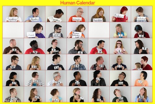 humancalendar small Human Calendar keeps you up to date with a nice bit of people style