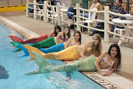 Swimmable Mermaid Fins Functional Mermaid Tails will let you swim with the fishes
