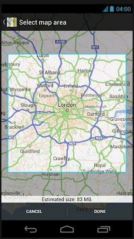 googlemapsoffline small Google Maps gets an offline map update...the end of the paper map arrives?