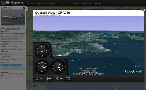flightradar24f Awesome FlightRadar24 lets you track live air traffic across the world...