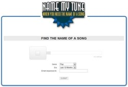 Name My Tune – find the name of that song you can't remember