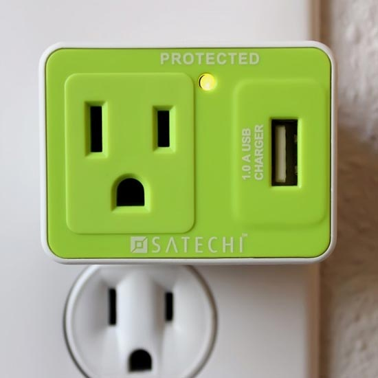 satechi compact usb charger Satechi Compact USB Surge Protector frees up an outlet