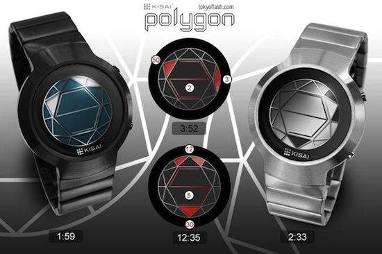 Kisai Polygon LCD Watch gives you a new way to look at time