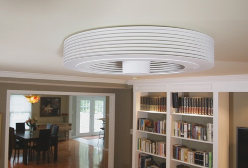 Exhale Bladless Ceiling Fan Exhale Bladeless Ceiling Fan puts a breath of fresh air into the room