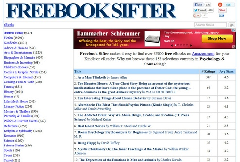 freebooksifter Freebook Sifter   find and download 35000 free ebooks from Amazon [Freeware]