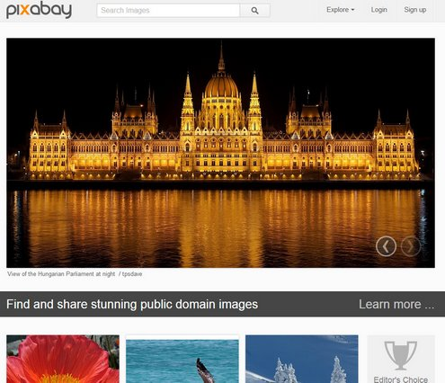 pixabay Pixabay   65000 free public domain images for free download and use [Freeware]