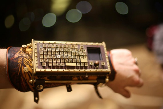 Typewriter Armguard Typewriter Arm Guard – Steampunk gadgetry at its finest