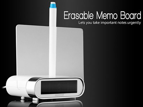 eraseablememoboardusbhub Erasable Memo Board USB Hub Clock   just when you thought there was nothing more they could do with USB