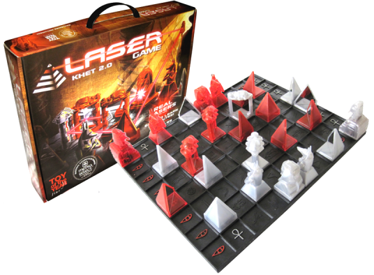 Khet Laser Game Khet is a logic game that will bend your mind...and lasers