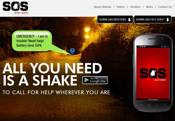 SOS Stay Safe – the smartphone app which could save your life with a simple shake