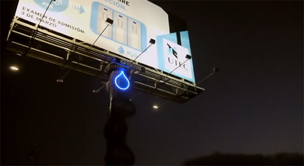 Billboard Water Generator – Turning air into drinkable water