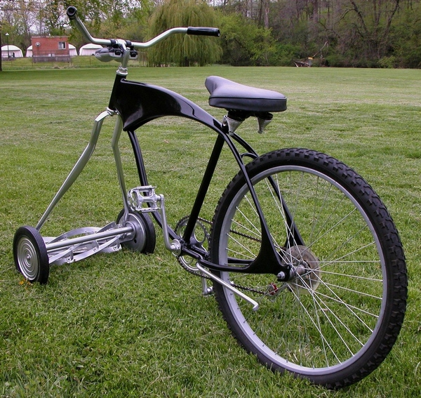 Custom Chopper Mower Bike – only one careful owner…