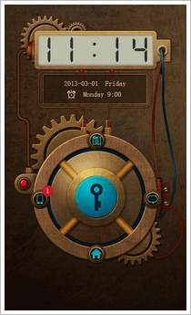 steampunktheme Steampunk Go Launcher   sometimes only analog will do for your phone [Freeware]