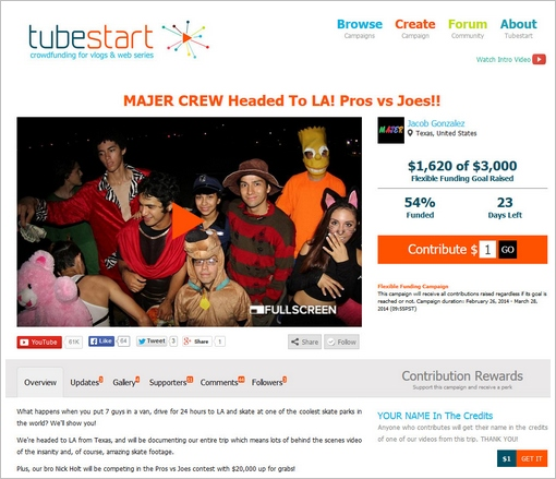 tubestart2 Tubestart   crowdfunding for video