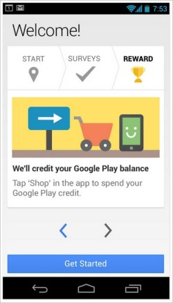 Google Opinion Rewards – answer surveys on your phone, earn Google Play credits