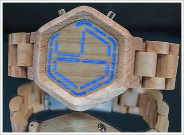 kisainightvisionwoodwatch Kisai Night Vision Wood LED Watch   now you see it, now you dont