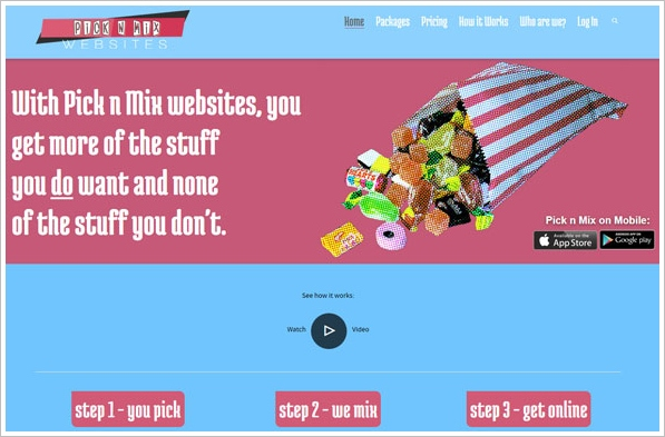 picknmix Pick n Mix   superb new website building service is perfect for small businesses and mom and pop