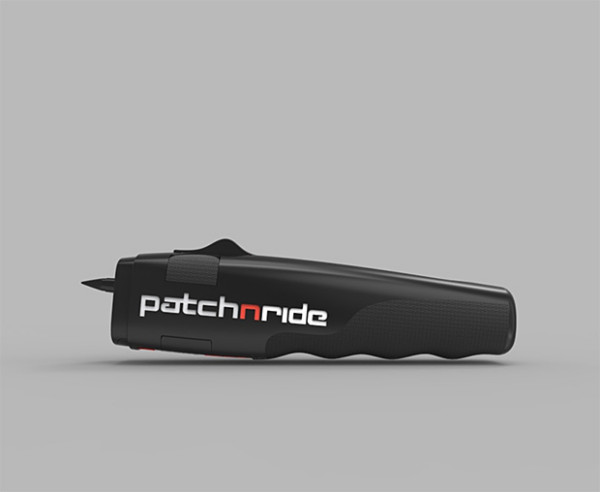 patch n ride e1403819805560 PatchNRide   ultra cool tool fixes a flat tire on your bike in seconds, no mess, no gunk, no wheel removal