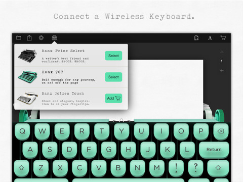 Hanx Writer – the celebrity app that turns your device into a typewriter [freeware]