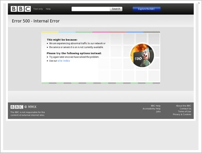 bbcerror Currently Down   taking website status checking to a whole new level of cool
