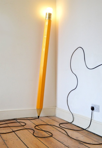HB Lamp standing HB Lamp – huge pencil lamp is perfect for those huge bright ideas