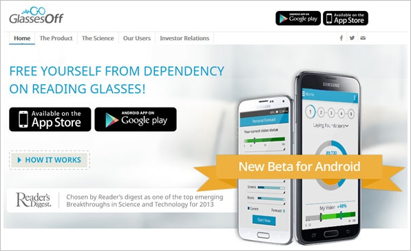 glassesoff 1 Glasses Off   slick smartphone app helps reduce your need for reading glasses [Freeware]