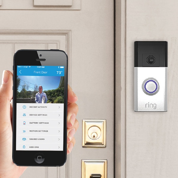 Ring Wi-Fi Enabled Video Doorbell – see who's coming to visit without leaving your couch