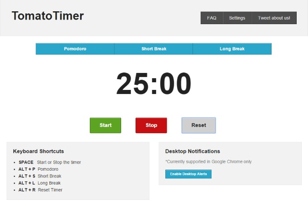 TomatoTimer – the simple Pomodoro timer