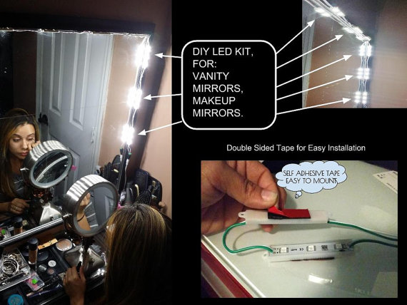Vanity Led Kit : Vanity LED Mirror Kit fell like a movie star in your own bathroom The Red Ferret Journal